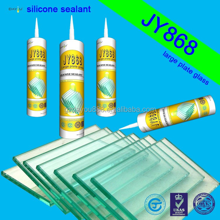 JY868 Factory Price Good Quality Acetoxy Dotted Glass Member Silicone sealant / Adhesive gule
