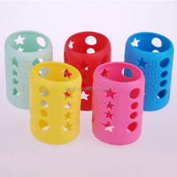 Standard neck silicone baby glass bottle warmer sleeve