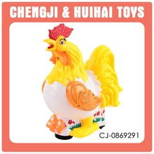 Novelty cartoon plastic projector animal toys chicken toy for kids