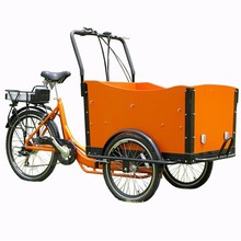 High quality three wheel cargo bike/ electric bike front cargo/ trike for passenger