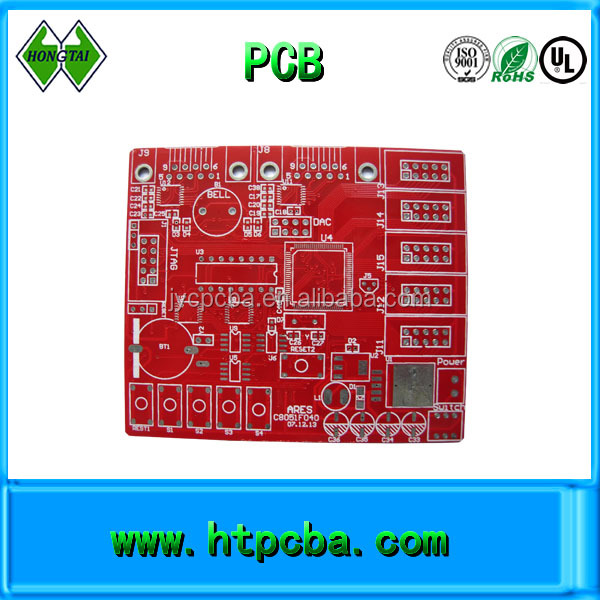 Red solder mask ink pcb make,1.0mm board thickness,0.5OZ pcb factory in shenzhen