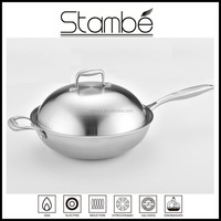 Korea Design Stambe All Clad Stainless Steel non-stick frying pan