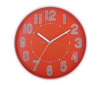 MODERN FASHION QUARTZ PLASTIC SILENT WALL CLOCK FOR HOME DECOR