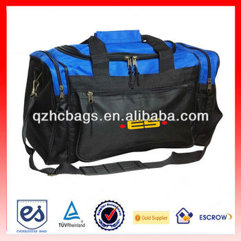 "17"" sports duffle bag lightweight gym duffel with mesh pockets(HC-A277)"