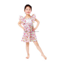 2017 Latest Kid Princess Dress Design Cap Sleeve Flower Girl Dress