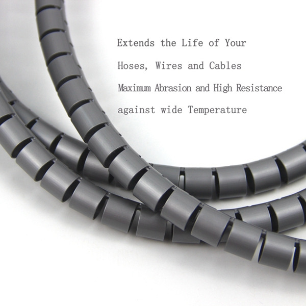 Flexible Spiral Tube Cable Wire Wrap Computer Manage Cord 1M with ...