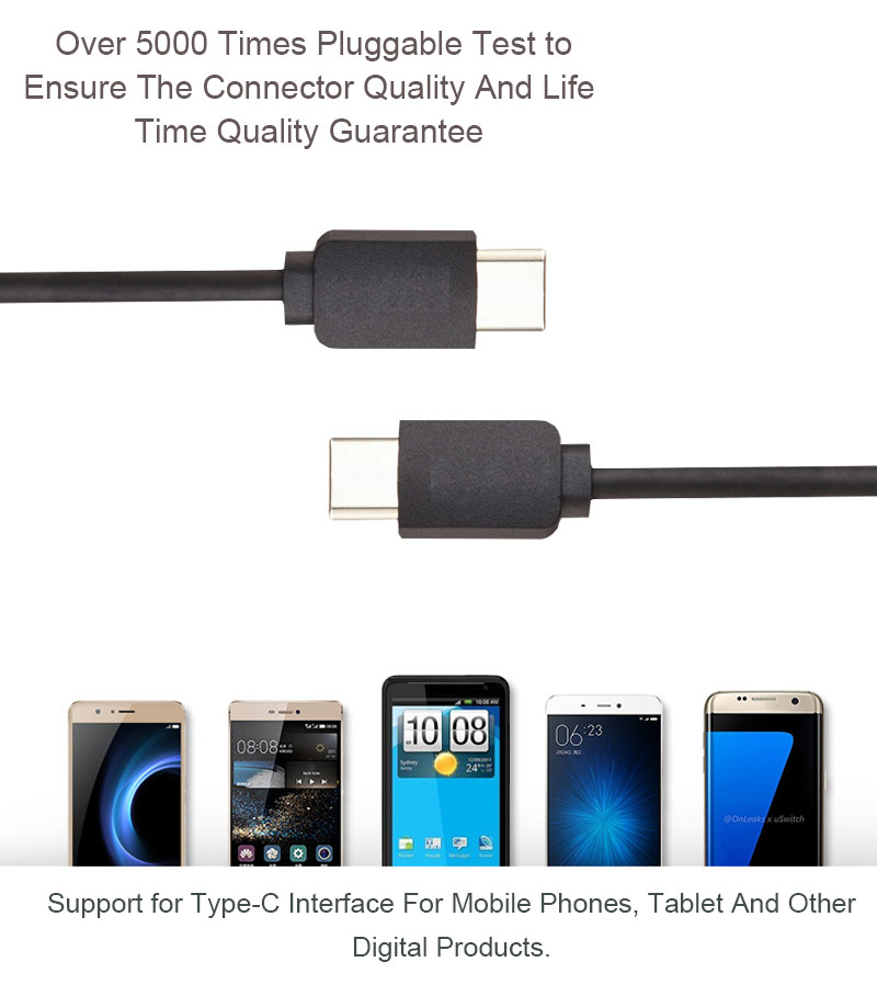 Wholesale USB 3.1 Type C to Type C PD Cable 2A Fast Charging Usb Cable for MacBook Laptop