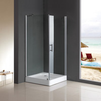 china factory leak proof cheap price enclosed glass shower cubicles and trays for small spaces bathrooms