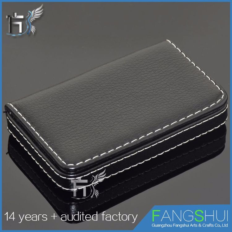 Free sample genuine leather name card holder leather card case selling