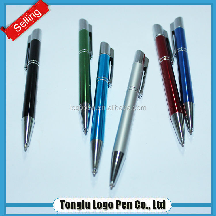 Aluminium ballpoint twist action roller ball pen