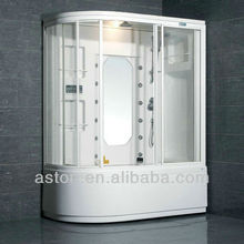 Complete steam room with massage bath tub shower steam room with lcd tv