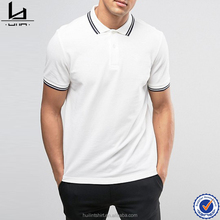 clothing manufacturers overseas bulk slim twin tipped white polo shirt