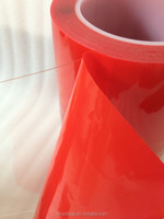 Automobile Building Industry Strong Adhesion Red Liner Double-sided Clear Acrylic Foam Adhesive Tape
