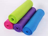 2016 Wholesale high density anti-slip pilate custom label TPE yoga mat best fitness mat with carrying bag