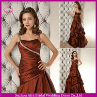 SD1153 lace up corset wedding dress cheap ruffle skirt wedding dresses brown color