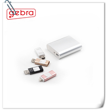 Super easy carry out 3 in 1 USB Metal card reader 64gb for iPhone Android and computer