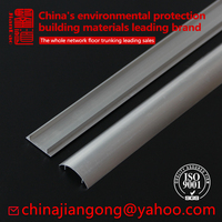 Aluminum alloy Wire protection floor cable trunking with double-sided adhesive metal trunking