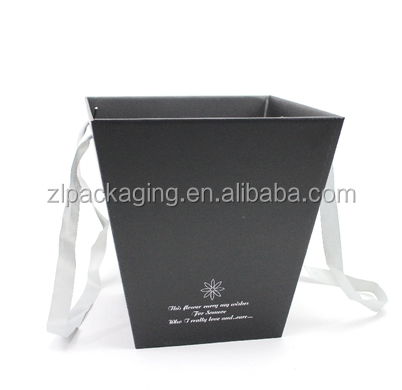 popcorn shaped flower folding gift packaging box with handle