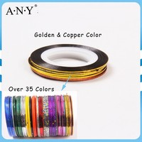 ANY Nail Beauty Curing Decorative Sticker Gold Nail Tape Line for Nail Art