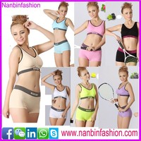 Ninbinfashion sweet tube top bra hot sex womens sport bra