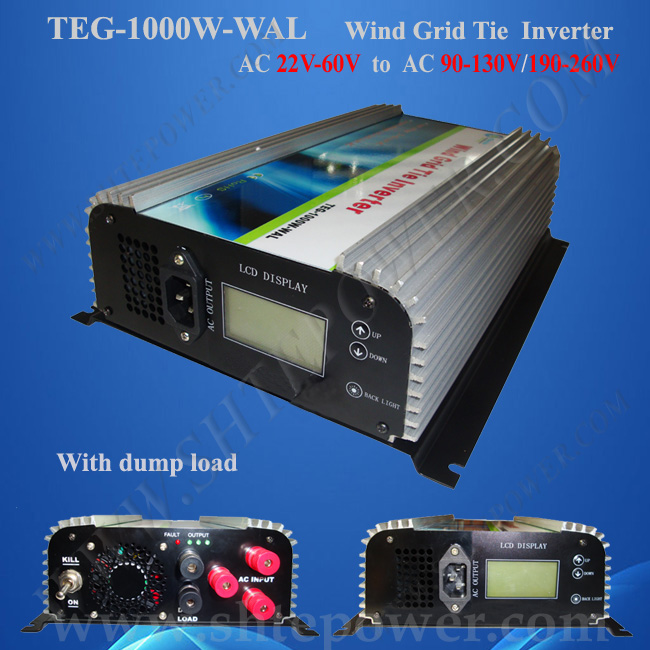 Low price 1000w ce rohs 48volt ac wind generator pure wave inverter