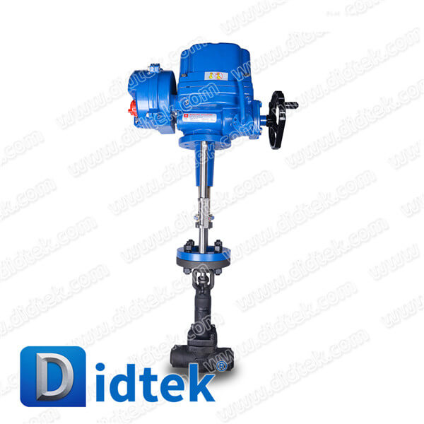 Didtek Forged F11 BW Bellow Globe Valve With Electric Linear Actuator