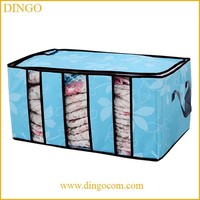 Foldable soft quilt clothes travel pvc plastic storage bag