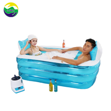 Quality folding portable spa hot large plastic inflatable bathtub for adult