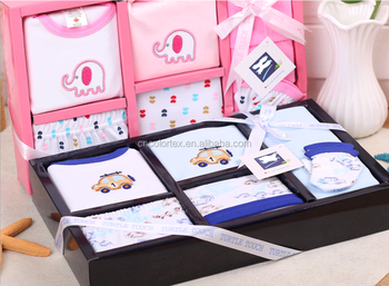 Pure cotton baby gift box 8pcs set