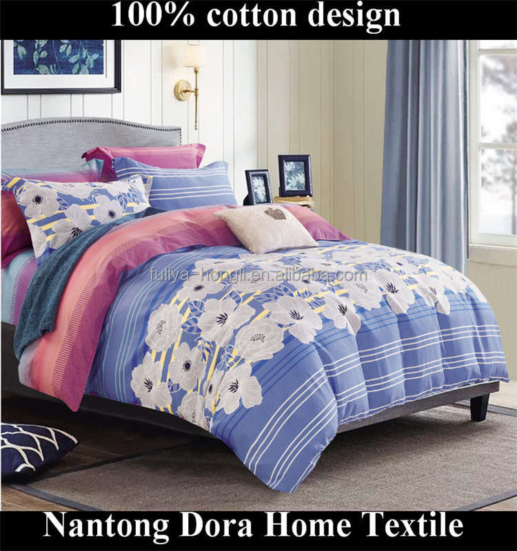 Good quality and cheap price bedding set/colorful print 3 pc bedding set home used cheap bedding set