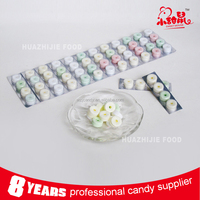 4PCS/card Fruit Flavour Whistle Pressed Tablet Candy