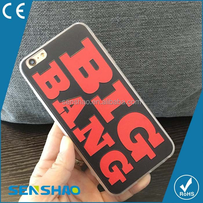Lovely cartoon tpu+pc shell case OEM custom cheap price Big Bang mobile phone case for VIP