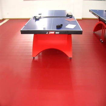 ITTF Certificated High Quality Cheap Indoor PVC Table Tennis Floor Mat with 4.5 mm