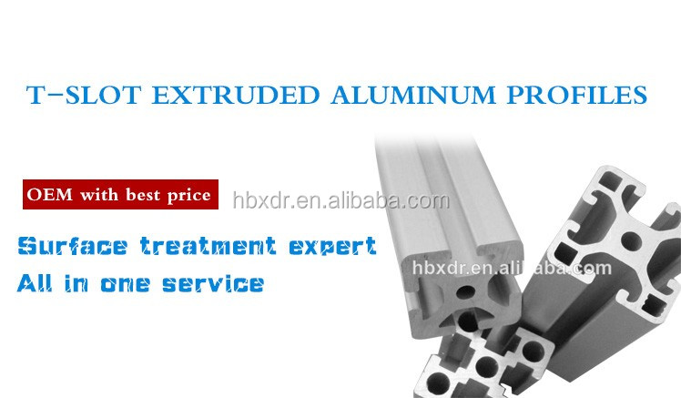 T-Slot extruded aluminum profiles prices