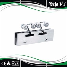 stainless steel hanging wheel,sliding door hardware,glass clamp with roller