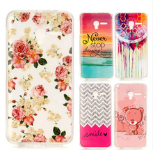 Flower Pattern Soft Silicon Rubber Protective Skin TPU Gel Skin IMD Back Cover Case for Alcatel One Touch PIXI 5015