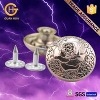 Design hot sell zinc alloy engraved jeans button