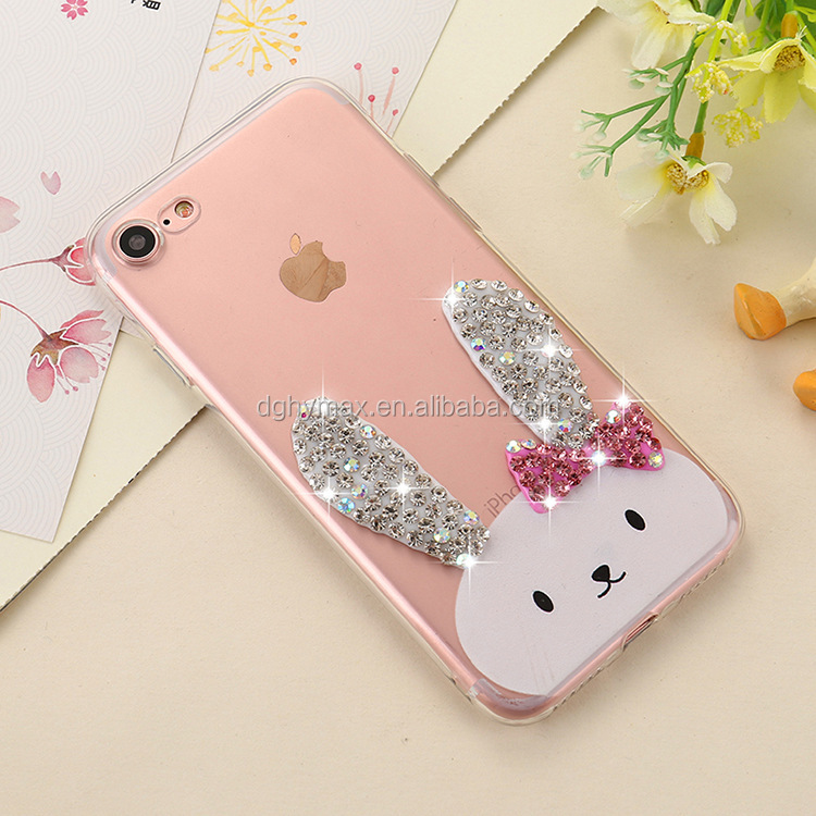 Fashion lovely rabbit eco-friendly silicone phone case