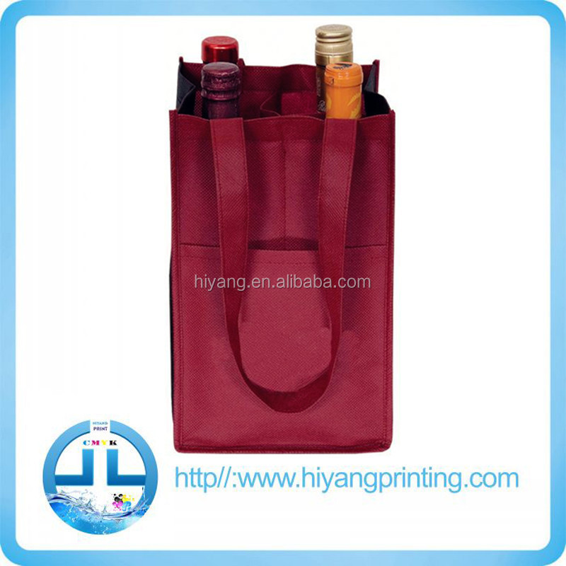 Good Quality customized pp non woven bag , red wine bag