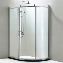HS-SR823 1 piece aluminium frame in chrome shower enclosure/ sliding door shower room