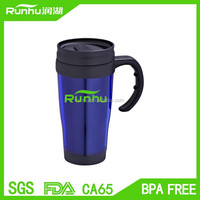 Drinkware Type and Eco-Friendly Cheap Plastic Travel Mugs With Dome Handle RH127-14