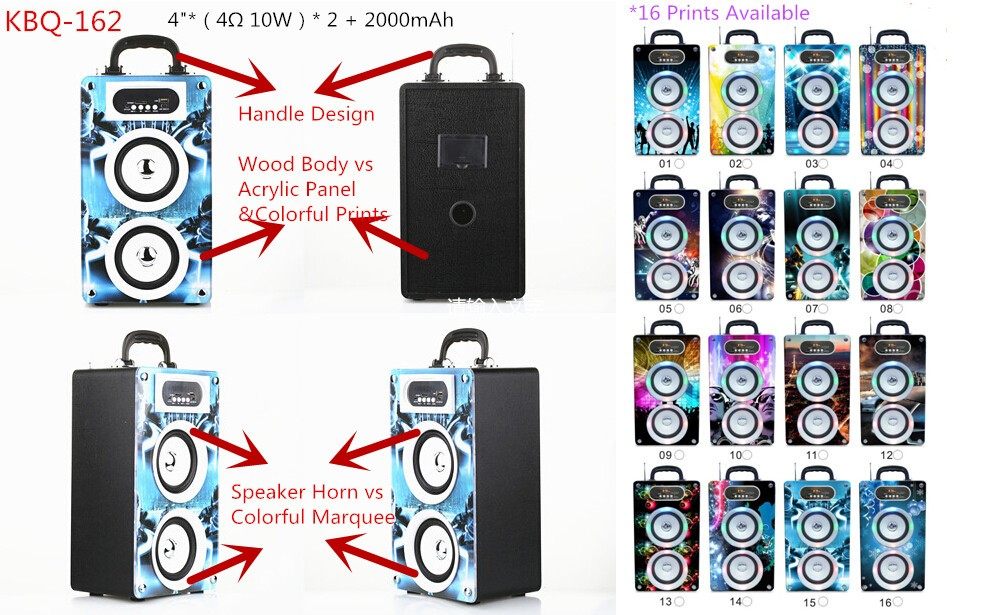 BBQ KBQ-162 20W 2000mAh New Products China LED Light Cheap Portable Bluetooth Speakers