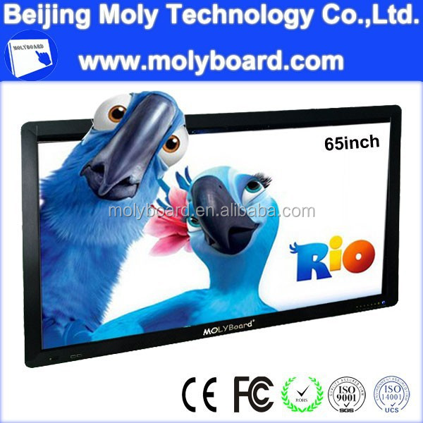 "MolyBoard High end 65"" touch screen internet lcd tv with PC function"