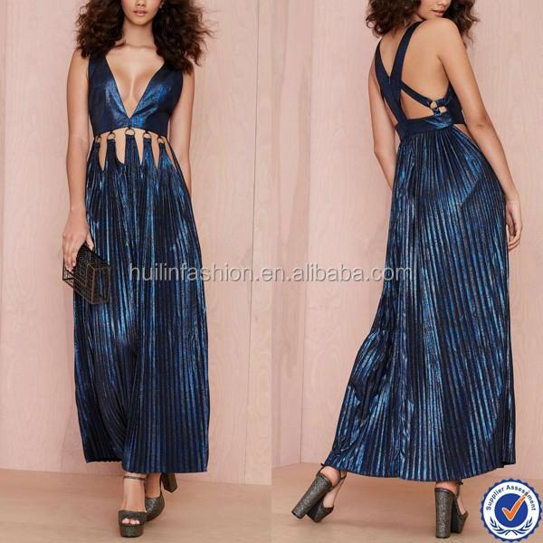 Dongguan New Fashion Sexy Sleeveless Cutout Occasion Wear Dress Evening Dress
