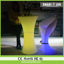 led cocktail table/lighted portable bar tables/juice counter