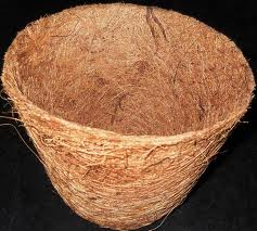 Coir mix with rubber latex for a natural coco pot