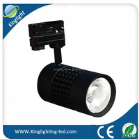 Real factory for clothing shop 35W high lumen 3 phase led track lighting