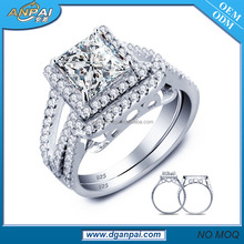 Argento <span class=keywords><strong>di</strong></span> <span class=keywords><strong>fidanzamento</strong></span> wedding ring 925 sterling <span class=keywords><strong>3</strong></span> carat diamond ring set
