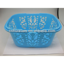 Flexible garden plastic basket with handle