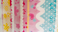super soft shiny embossed cartoon print flannel fleece baby blanket fabric